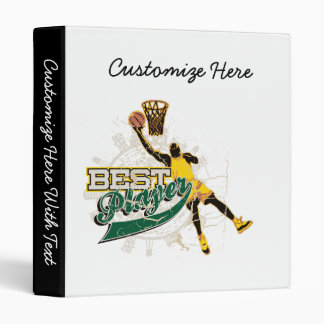 Basketball Best Player Green and Gold Binder