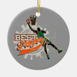 Basketball Best Player Green and Orange Christmas Ornament