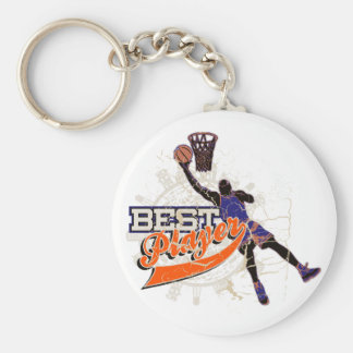 Basketball Best Player Orange and Blue T-shirts Keychain