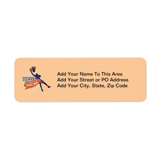 Basketball Best Player Orange and Blue T-shirts Label