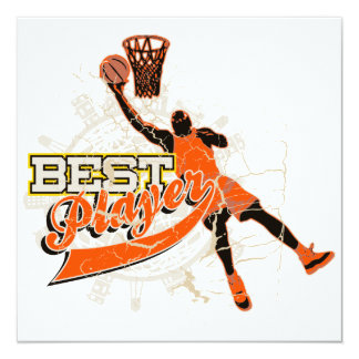 Basketball Best Player Orange T-shirts and Gifts Card