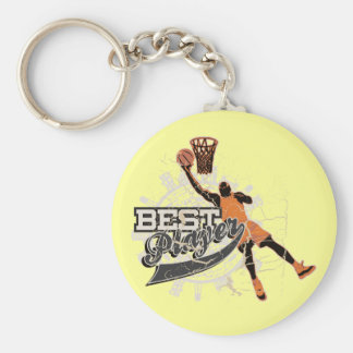 Basketball Best Player Tshirts and Gifts Basic Round Button Keychain