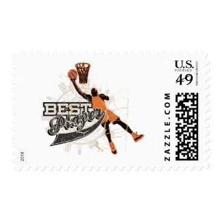 Basketball Best Player Tshirts and Gifts Postage Stamp