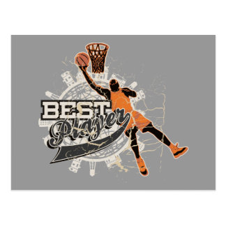 Basketball Best Player Tshirts and Gifts Postcard