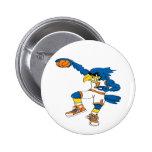Basketball-Bird Pinback Buttons