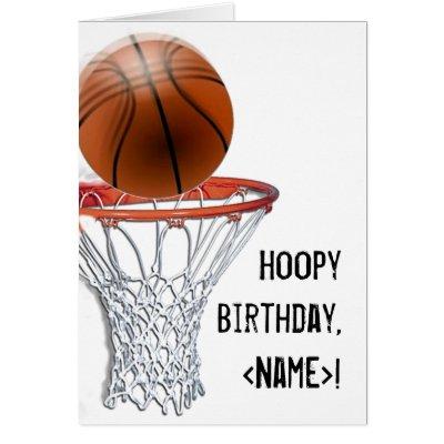 basketball birthday card  zazzle, Birthday card