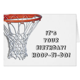 Funny basketball birthday cards greeting photo cards zazzle basketball birthday card bookmarktalkfo Image collections