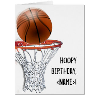 basketball birthday card