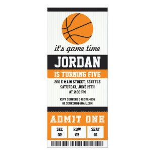 Boy birthday party invitations announcements zazzle basketball birthday invitation birthday party boys stopboris Gallery