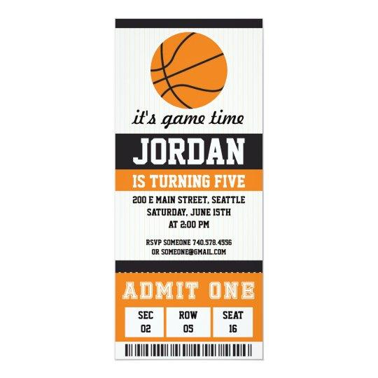 Basketball Birthday Invitation Party Boys
