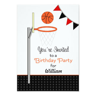Basketball Birthday Party Invitation-Customizable