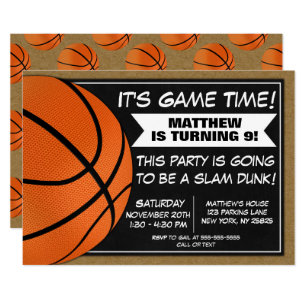 Basketball Party Invitations Announcements Zazzle