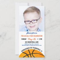 Basketball Birthday Party Sports Photo Invitation