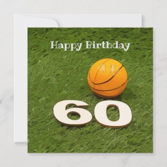 Basketball Birthday Postcard 60th birthday
