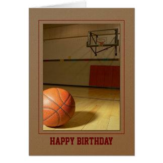 Basketball- Birthday Thank You Any Use Greeting Card