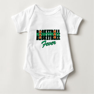 basketball black and green baby bodysuit