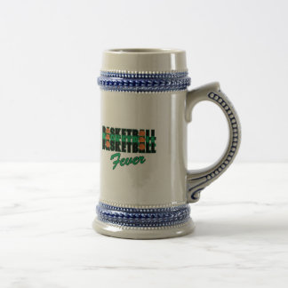 basketball black and green beer stein