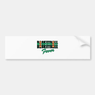 basketball black and green bumper stickers