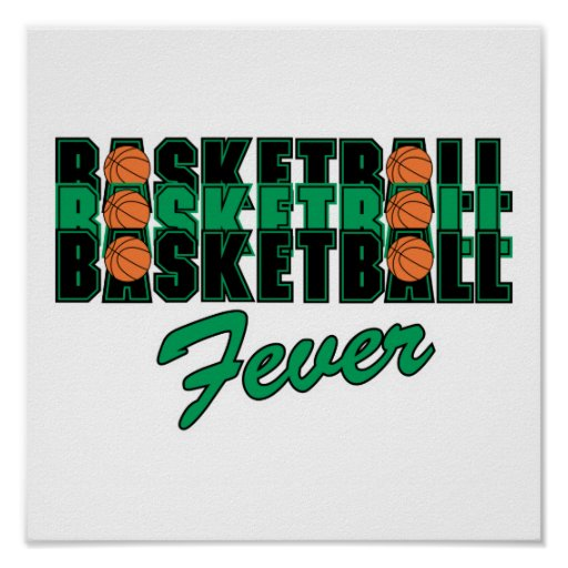 basketball black and green poster