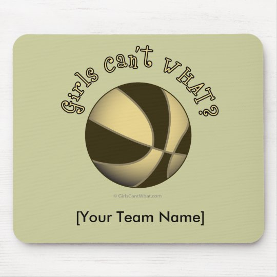 Basketball - Black/Gold Mouse Pad