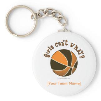 Basketball - Black/Orange Basic Round Button Keychain