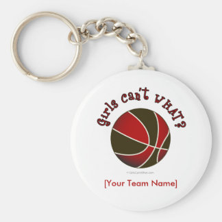 Basketball - Black/Red Keychain