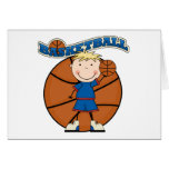 BASKETBALL Blond Boy T-shirts and Gifts Greeting Cards