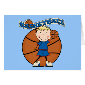 BASKETBALL Blond Boy T-shirts and Gifts Card