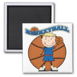 BASKETBALL Blond Boy T-shirts and Gifts Magnets