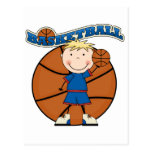 BASKETBALL Blond Boy T-shirts and Gifts Post Card