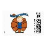 BASKETBALL Blond Boy T-shirts and Gifts Stamps