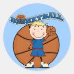 BASKETBALL Blond Boy T-shirts and Gifts Sticker