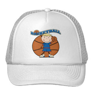 BASKETBALL Blond Boy T-shirts and Gifts Trucker Hat