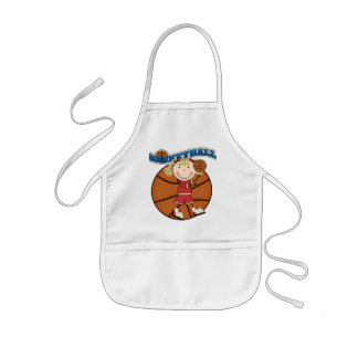 BASKETBALL Blond Girl T-shirts and Gifts Kids' Apron