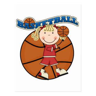 BASKETBALL Blond Girl T-shirts and Gifts Postcard