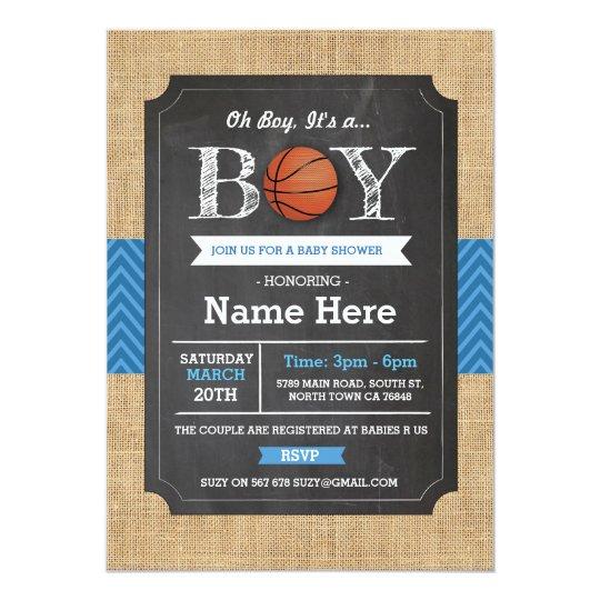 Basketball blue boy baby shower sports invite zazzle basketball blue boy baby shower sports invite filmwisefo