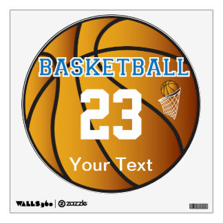 Basketball Blue Letter Personalize Wall Decal