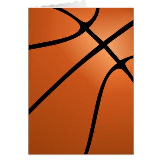 Basketball Bold Design Blank Customizable Card
