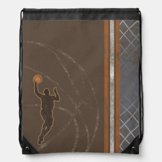Basketball Boy Drawstring Backpack