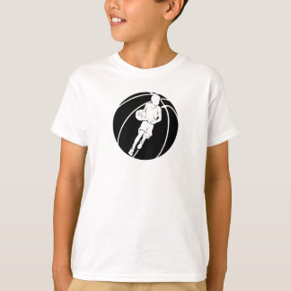 Basketball Boy Dribble in Basketball T-Shirt