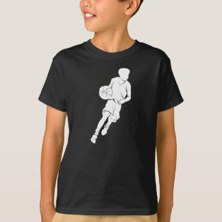 Basketball Boy Dribbling Silhouette T-Shirt
