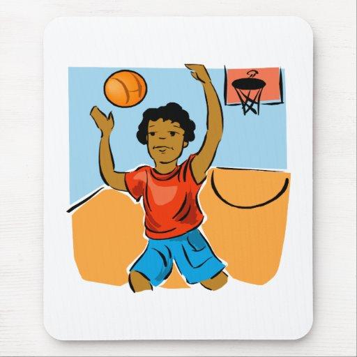 Basketball boy mouse pad