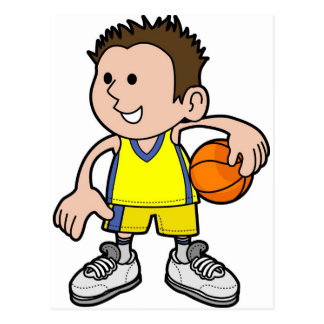 basketball boy postcard