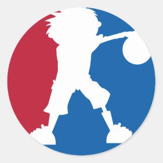 Basketball Boy Sticker