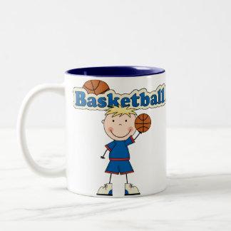 Basketball Boy Two-Tone Coffee Mug