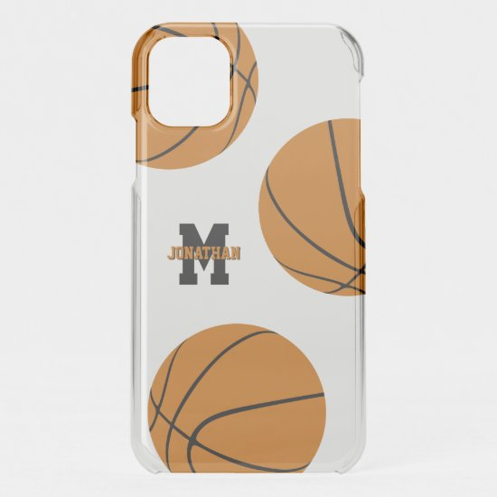 basketball boys girls sporty monogrammed uncommon iPhone case