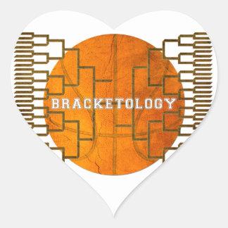 Basketball Bracketology Heart Sticker