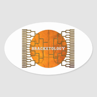 Basketball Bracketology Oval Sticker