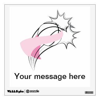 Basketball Breast Cancer Pow Wall Sticker