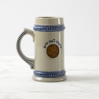 Basketball - Brown/Blue Beer Stein